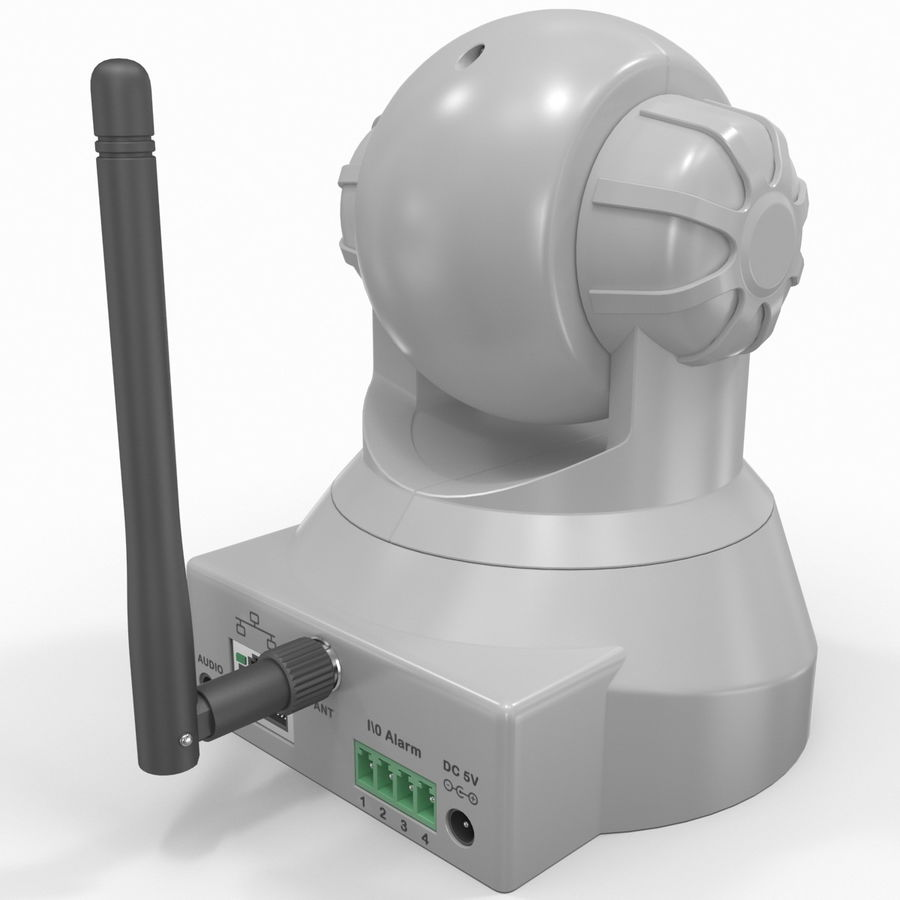 Wireless IP Surveillance Camera Wansview royalty-free 3d model - Preview no. 5