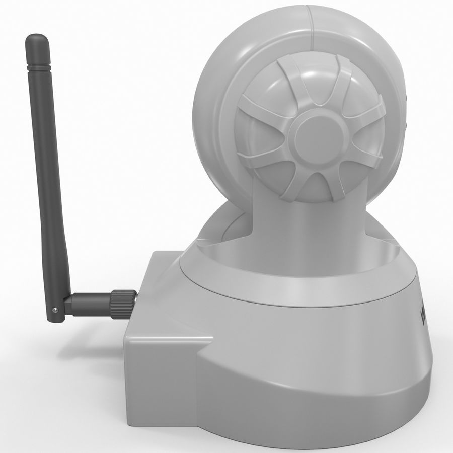 Wireless IP Surveillance Camera Wansview royalty-free 3d model - Preview no. 4