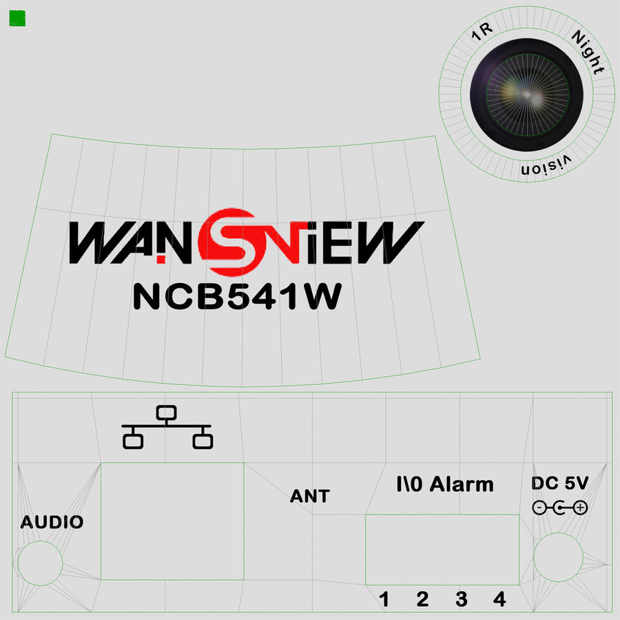 Wireless IP Surveillance Camera Wansview royalty-free 3d model - Preview no. 28