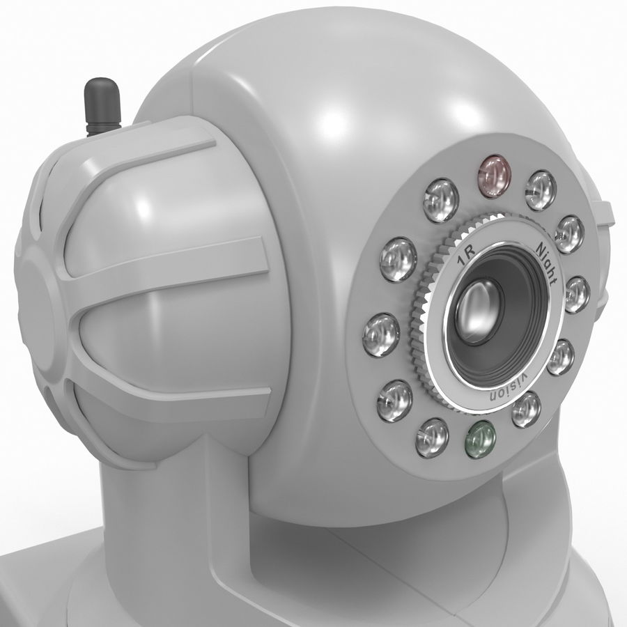 Wireless IP Surveillance Camera Wansview royalty-free 3d model - Preview no. 11