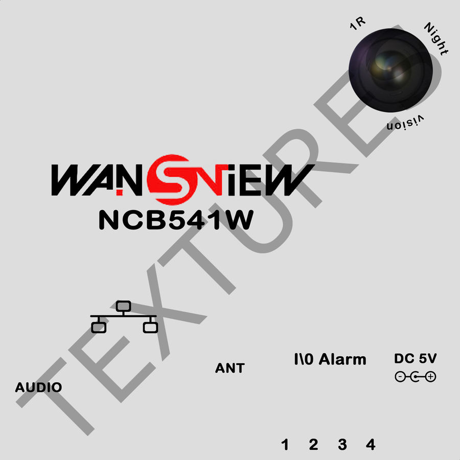 Wireless IP Surveillance Camera Wansview royalty-free 3d model - Preview no. 2