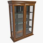 Toscano Wall Curio Cabinet 3d model