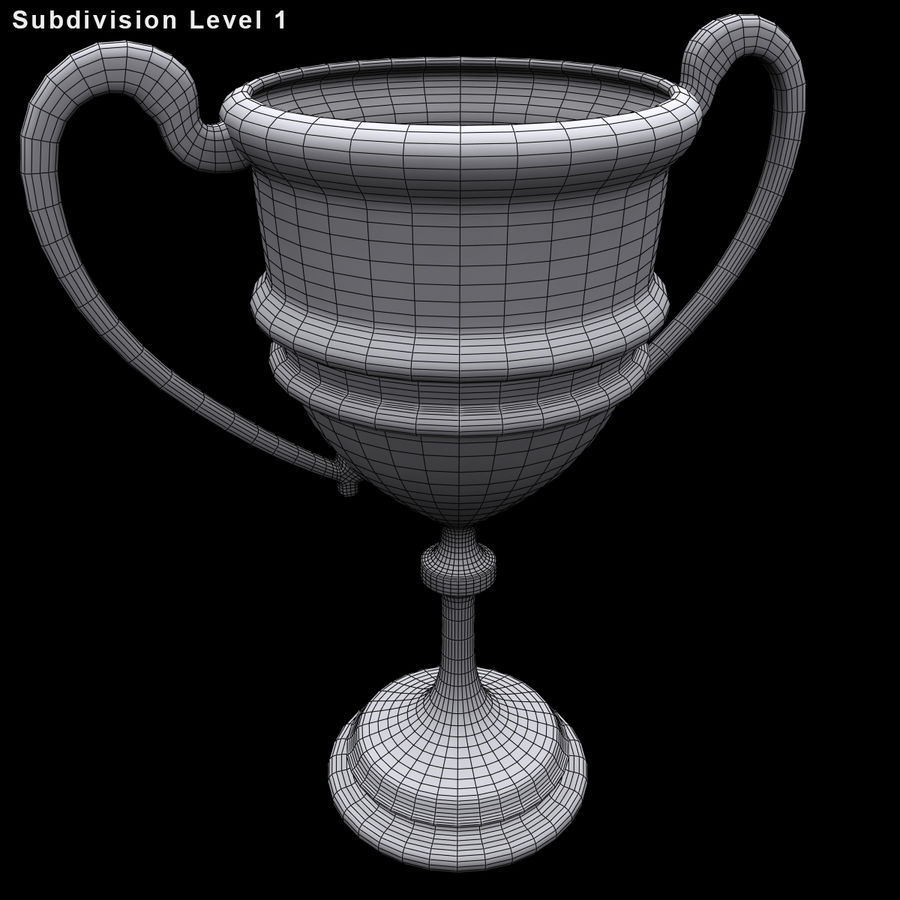 奖杯杯5 royalty-free 3d model - Preview no. 10