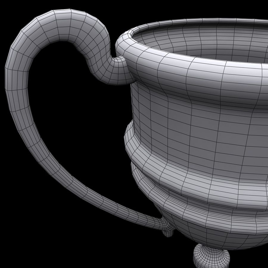 Trophy Cup 5 royalty-free 3d model - Preview no. 11