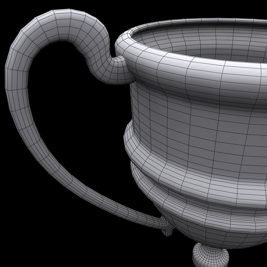 奖杯杯5 royalty-free 3d model - Preview no. 11