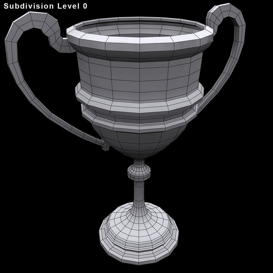 奖杯杯5 royalty-free 3d model - Preview no. 9