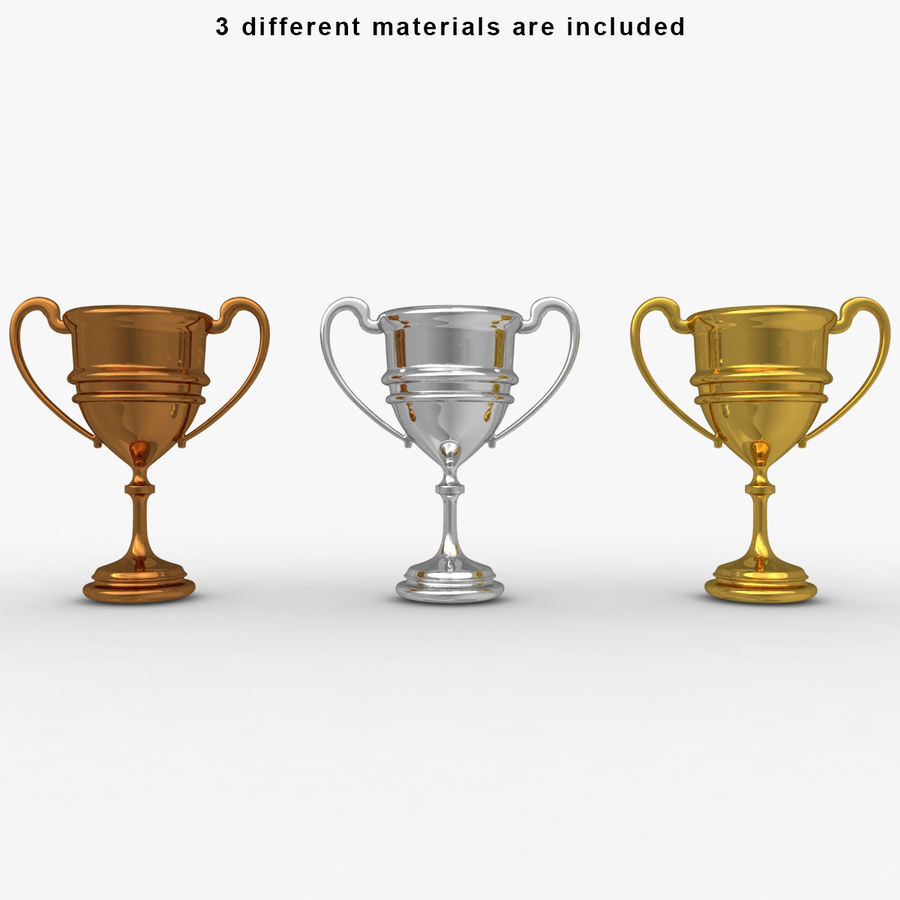 Trophy Cup 5 royalty-free 3d model - Preview no. 3