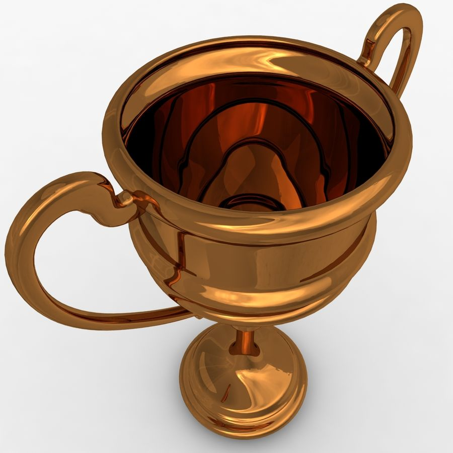 奖杯杯5 royalty-free 3d model - Preview no. 8