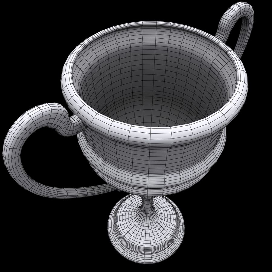 Trophy Cup 5 royalty-free 3d model - Preview no. 12
