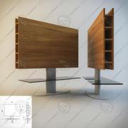 Подставка под телевизор из дерева, металла и стекла от Tonin Casa 3d model