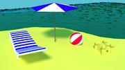 海滩 3d model