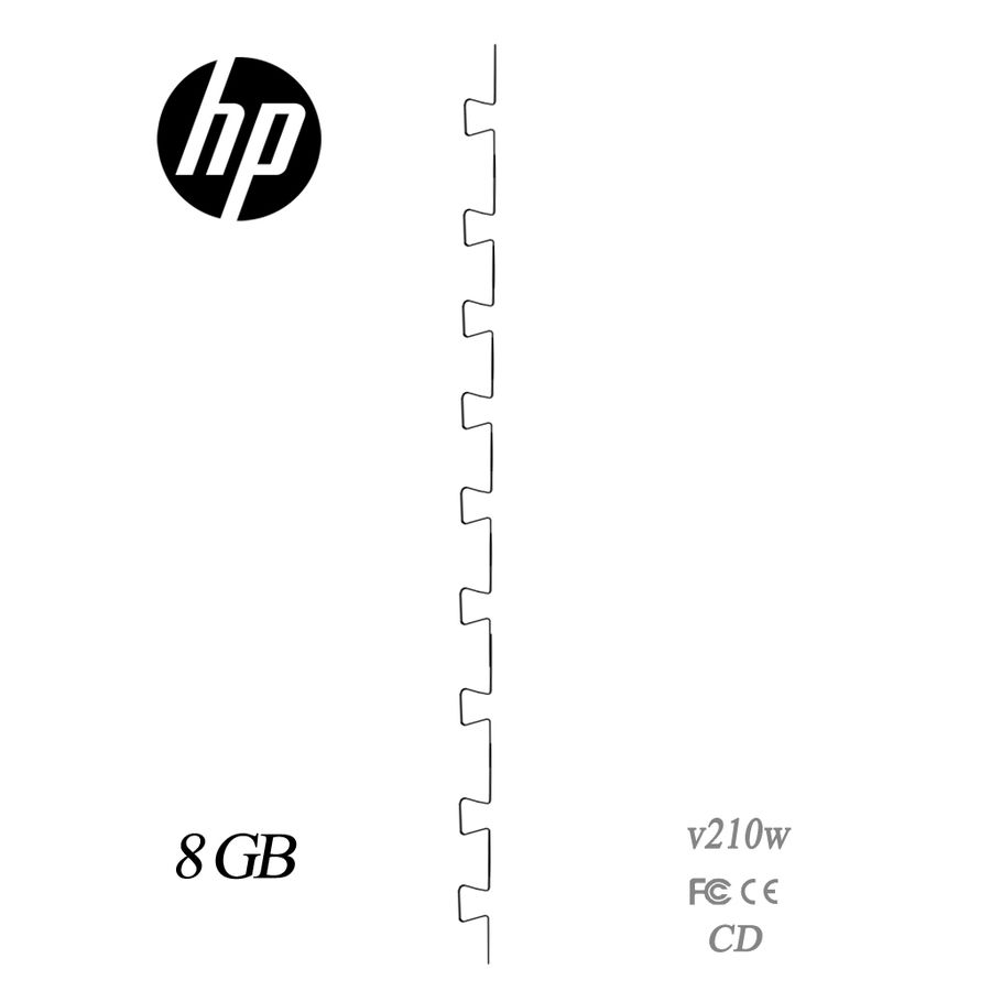 Hp Usb Flash Drive royalty-free 3d model - Preview no. 4