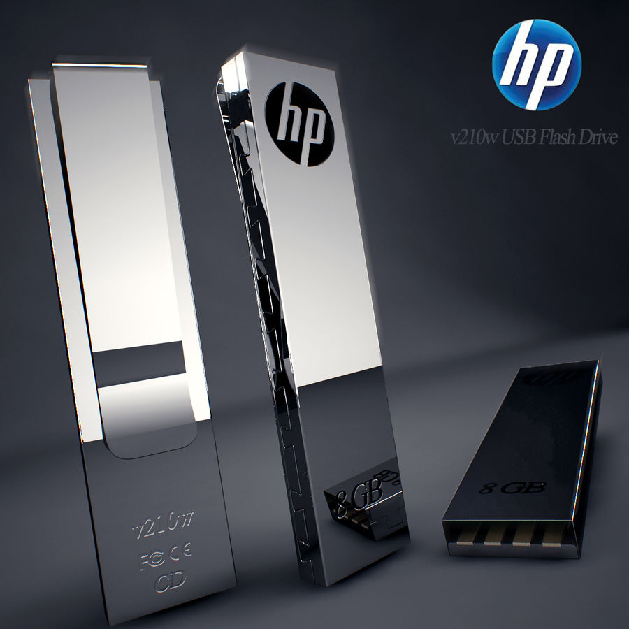 Hp Usb Flash Drive royalty-free 3d model - Preview no. 1