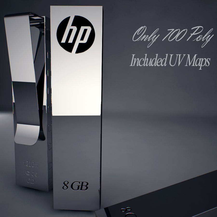 Hp Usb Flash Drive royalty-free 3d model - Preview no. 2