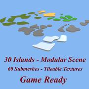 3d platform islands 3d model