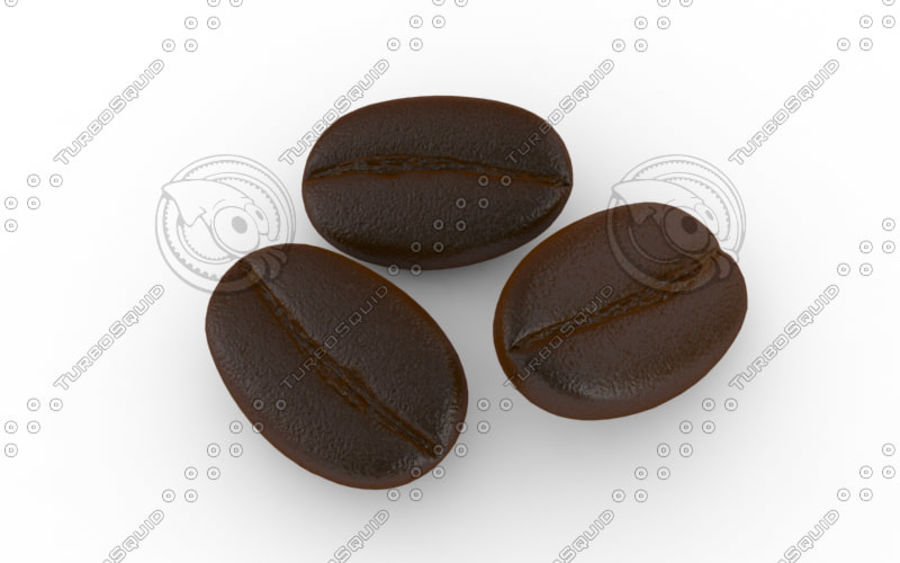 Coffee bean royalty-free 3d model - Preview no. 3