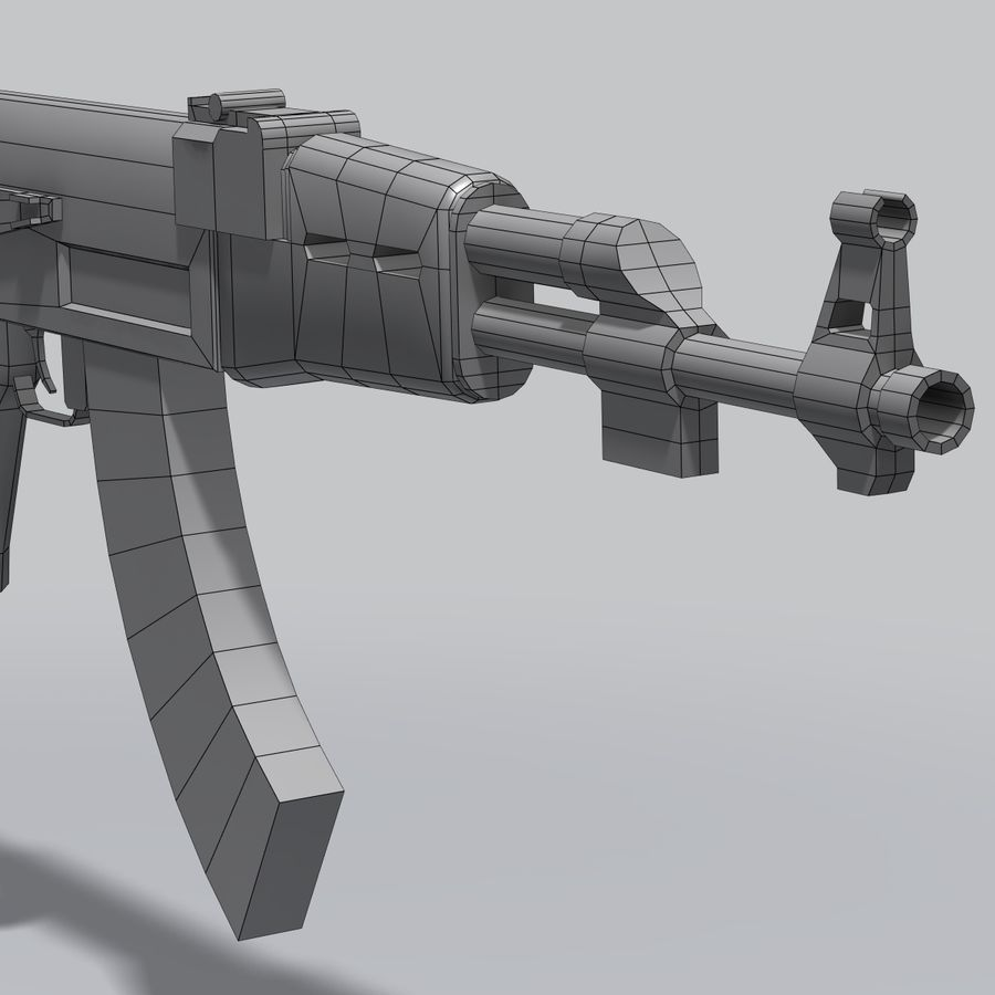 AK47 royalty-free 3d model - Preview no. 4