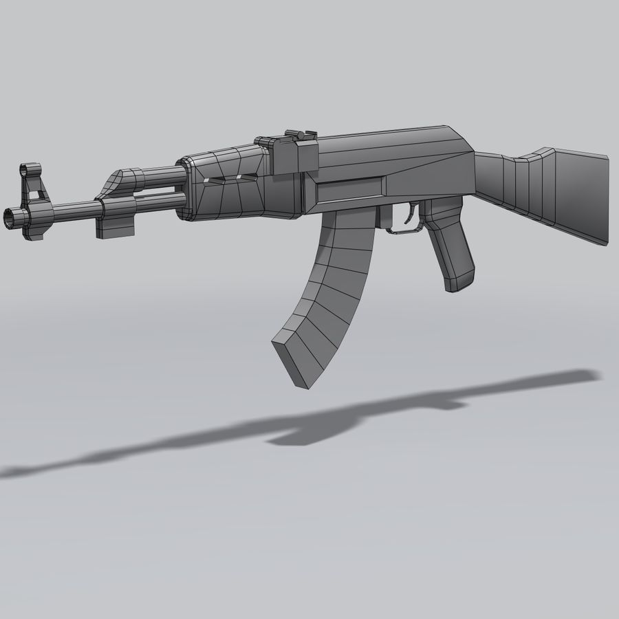 AK47 royalty-free 3d model - Preview no. 9