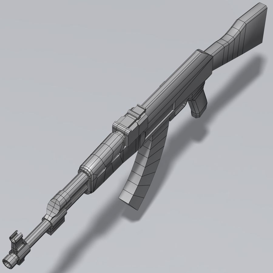 AK47 royalty-free 3d model - Preview no. 10