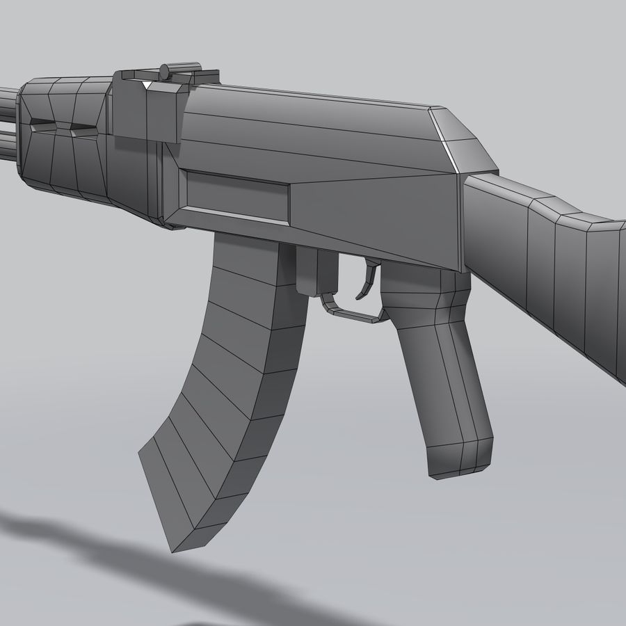 AK47 royalty-free 3d model - Preview no. 3