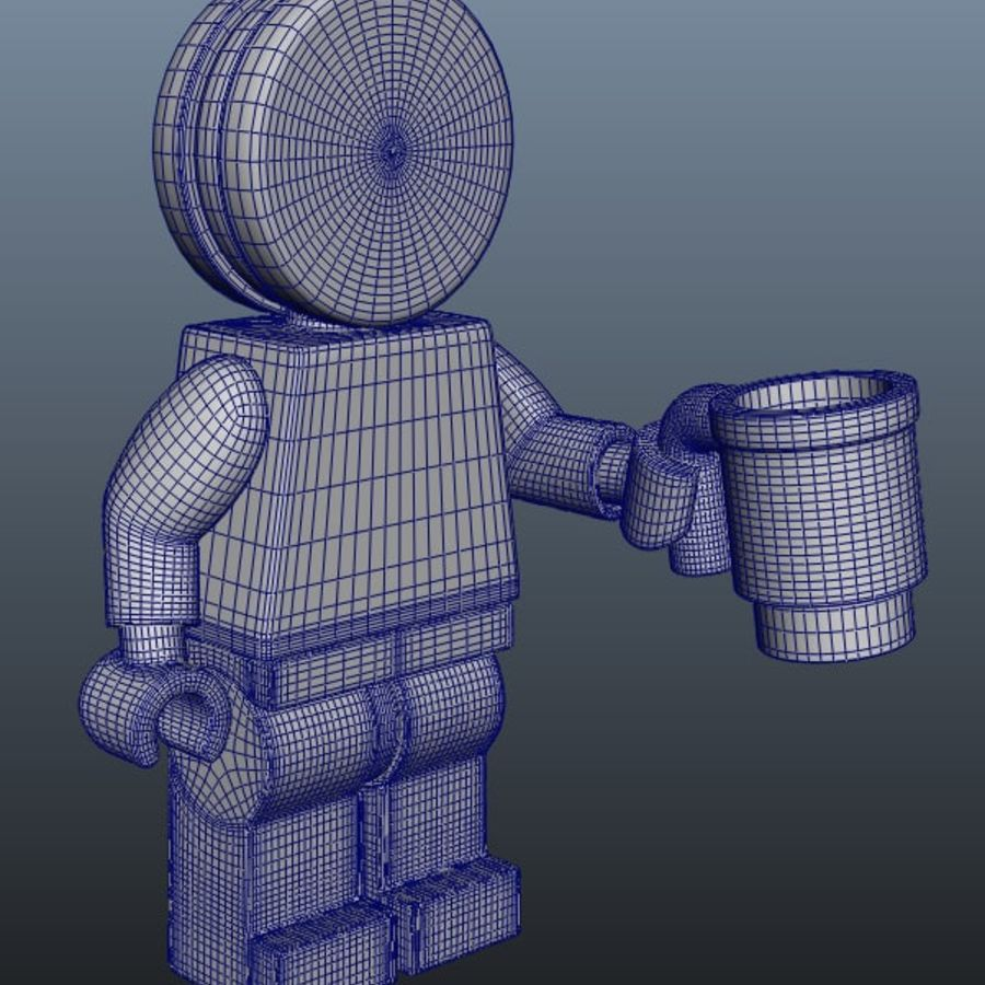 Gingerbreadman Lego Minifig HighPoly royalty-free 3d model - Preview no. 6