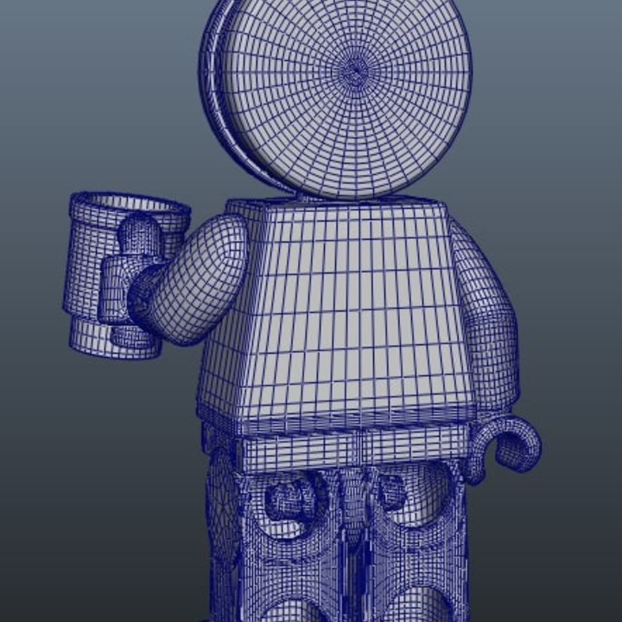 Gingerbreadman Lego Minifig HighPoly royalty-free 3d model - Preview no. 7