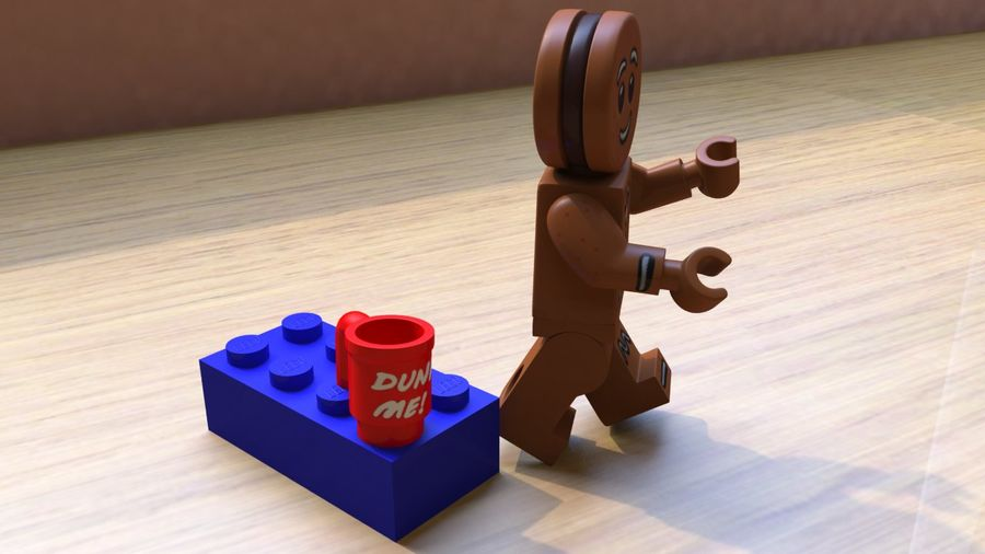 Gingerbreadman Lego Minifig HighPoly royalty-free 3d model - Preview no. 5
