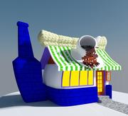 Cartoon Coffee House 3d model