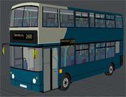 Ônibus Double Decker Arriva dos anos 80 3d model