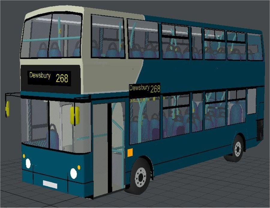 Ônibus Double Decker Arriva dos anos 80 royalty-free 3d model - Preview no. 1