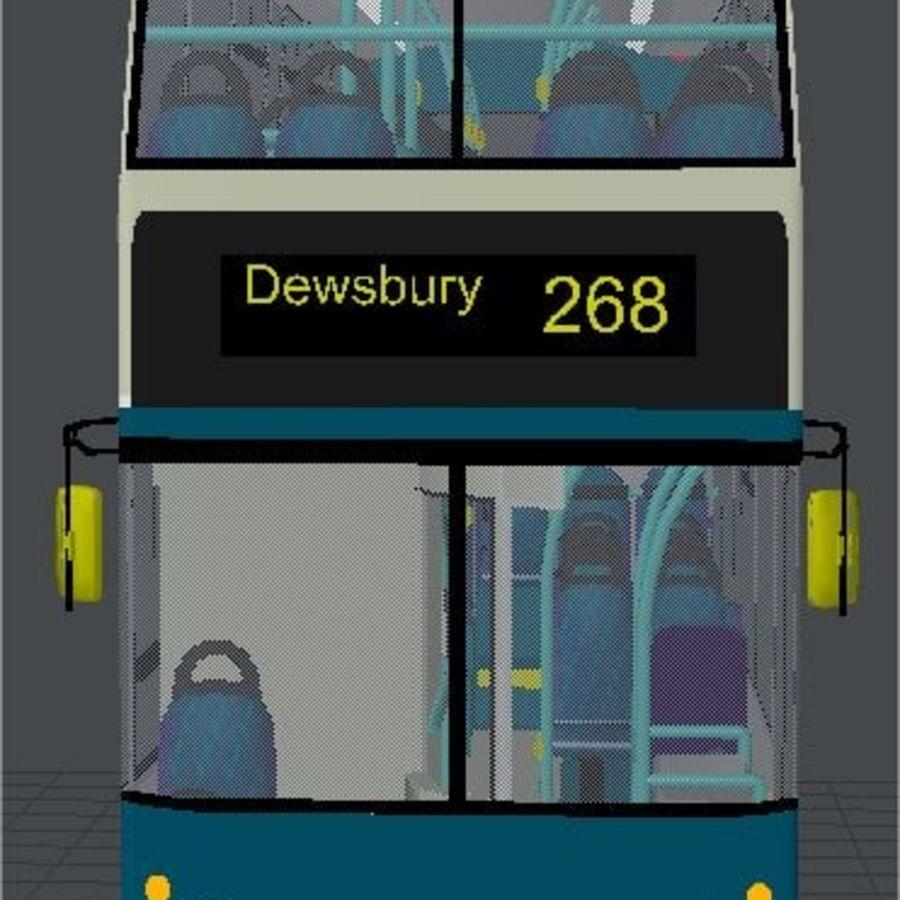 Ônibus Double Decker Arriva dos anos 80 royalty-free 3d model - Preview no. 2