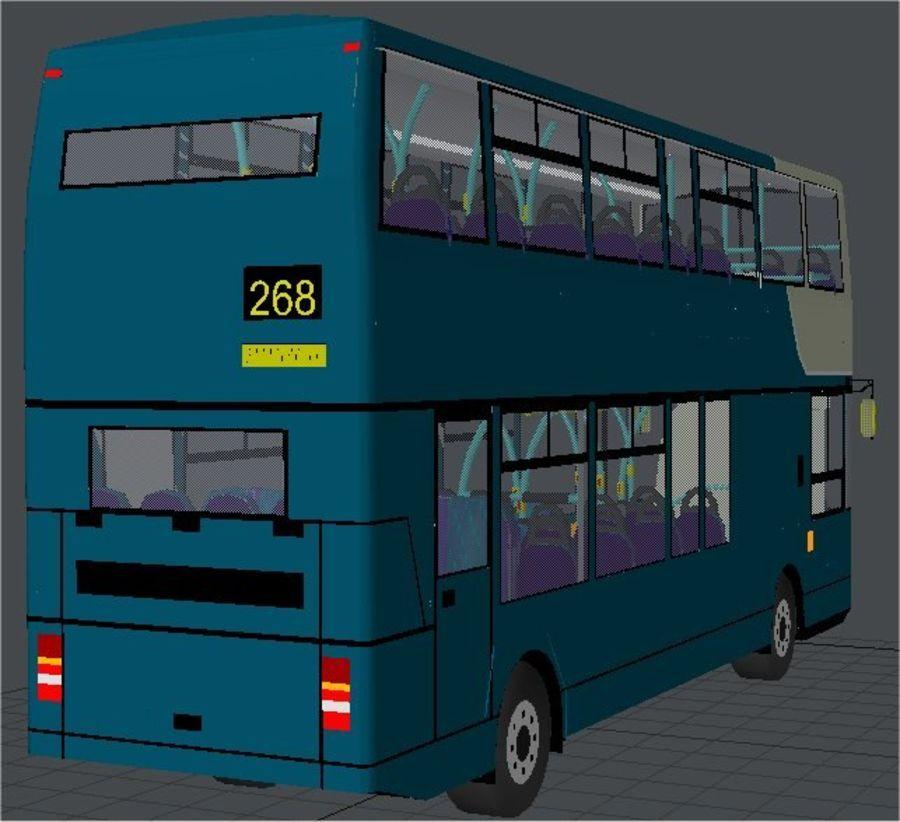 Ônibus Double Decker Arriva dos anos 80 royalty-free 3d model - Preview no. 3