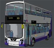 Double Decker Bus Olympic First Buses 3d model