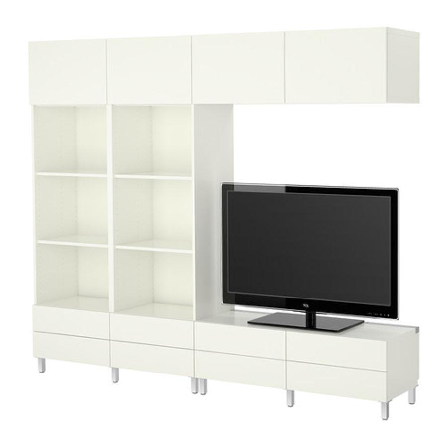 Cabinet BESTÅ Combinaison meuble TV royalty-free 3d model - Preview no. 1