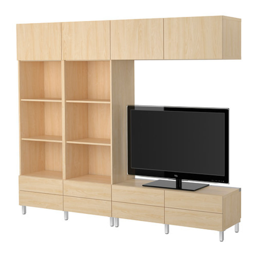 Cabinet BESTÅ Combinaison meuble TV royalty-free 3d model - Preview no. 4