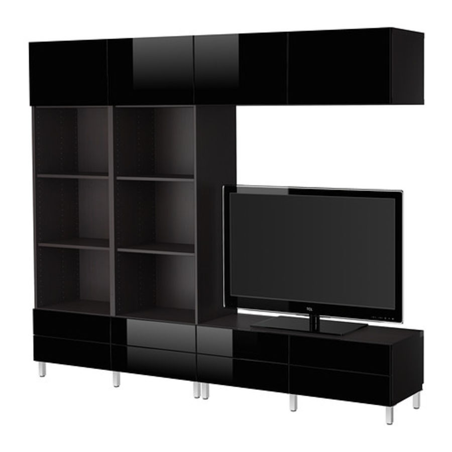 Cabinet BESTÅ Combinaison meuble TV royalty-free 3d model - Preview no. 2