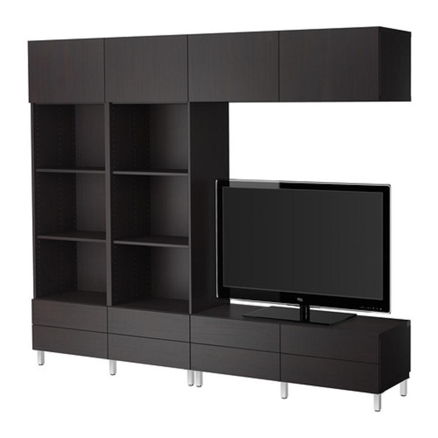 Cabinet BESTÅ Combinaison meuble TV royalty-free 3d model - Preview no. 3