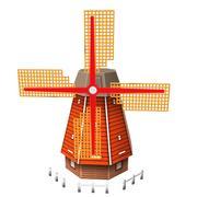 Низкополигональная ветряная мельница 3d model
