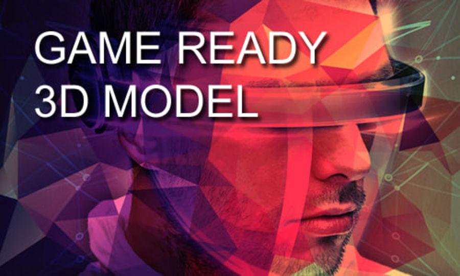 大型毛刷工具 royalty-free 3d model - Preview no. 6