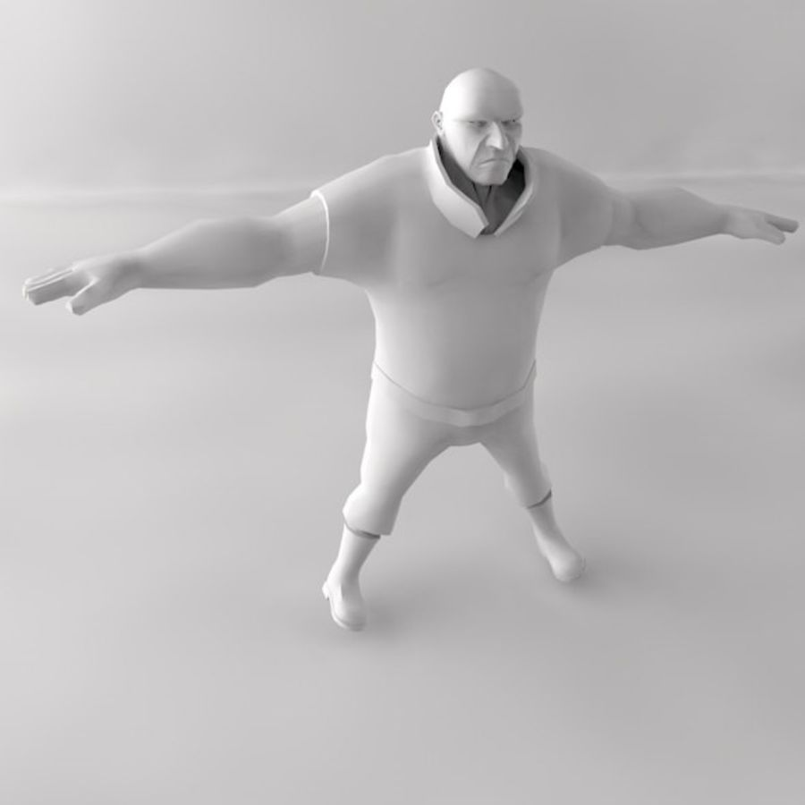 personagem homem royalty-free 3d model - Preview no. 6