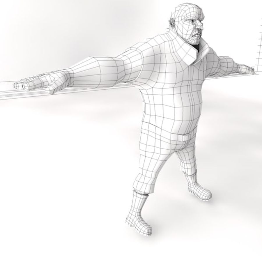 personnage d'homme royalty-free 3d model - Preview no. 4