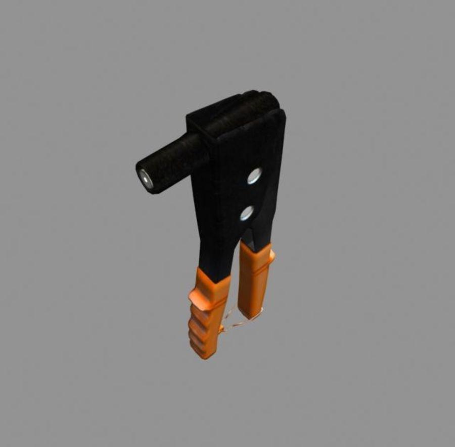 卡钳铆钉工具集合 royalty-free 3d model - Preview no. 3