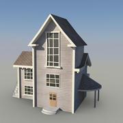 Maya cartoon achtergrond huis 3d model