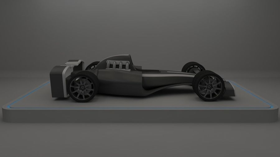 Formule 1 royalty-free 3d model - Preview no. 9