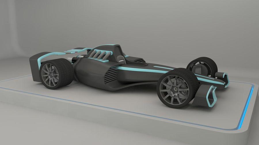 Formule 1 royalty-free 3d model - Preview no. 8