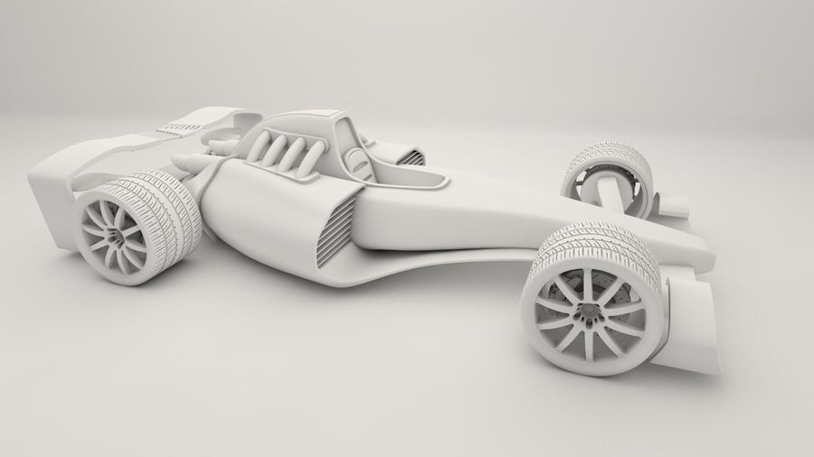 Formel 1 royalty-free 3d model - Preview no. 11