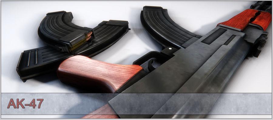 AK-47 royalty-free 3d model - Preview no. 14