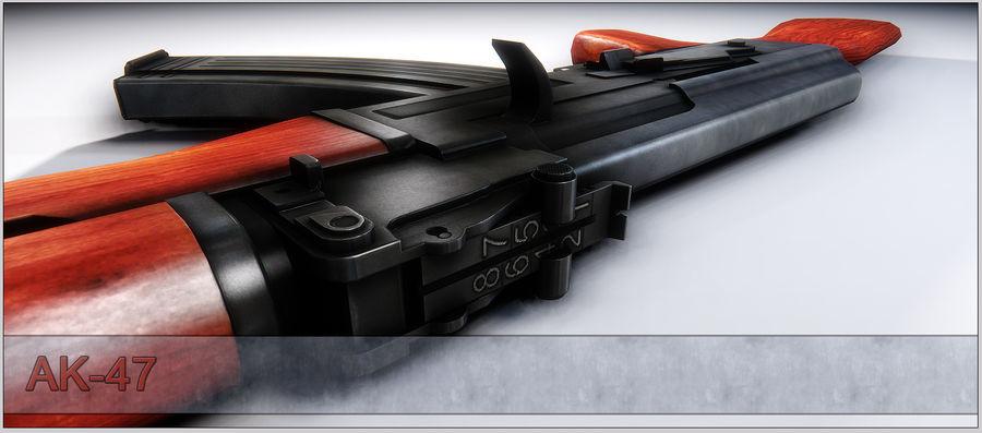 AK-47 royalty-free 3d model - Preview no. 13
