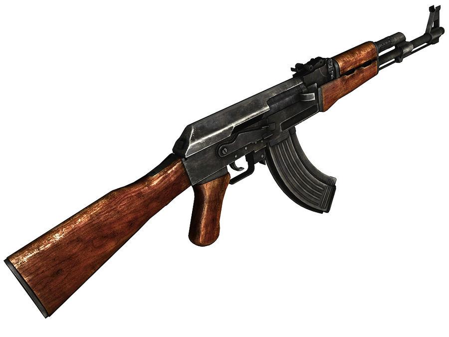 AK-47 royalty-free 3d model - Preview no. 1