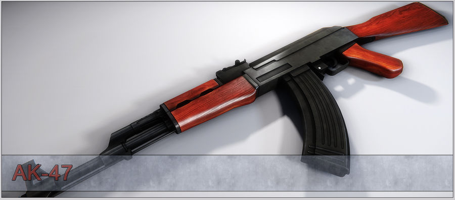 AK-47 royalty-free 3d model - Preview no. 11